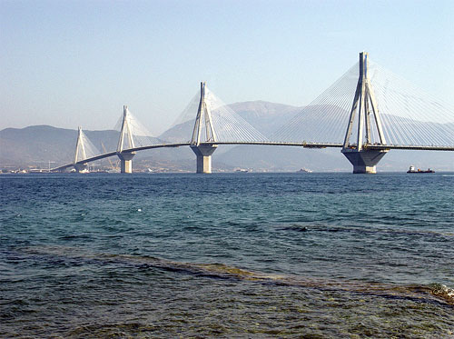 Rio-Antirrio bridge has been named 'Harilaos Trikoupis' bridge in honour of the Greek politician who has first visioned it RIO (Port) PATRA